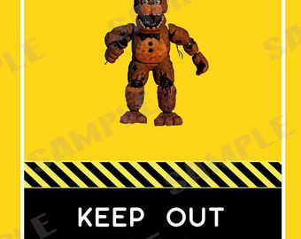 Five Nights At Freddy's Keep Out Poster
