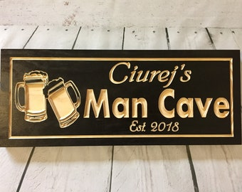 Man Cave Signs Personalized Uk : Custom wood signs for all occasions by benchmarksignsgifts