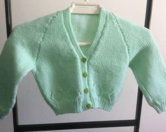 Pale Green Toddler Cardigan