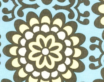 HALF YARD cut of Amy Butler Lotus Fabric - Blue - Wall Flower Sky AB17
