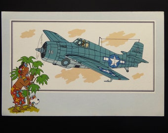 "Tintin. Chromo Tintin. See and know. Aviation. War 1939-1945. Series 3. NO. 14. Grumman F-4 ""Wildcat"". U.S.A. 1938. Casterman"