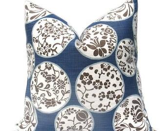 15% Off Sale Blue Pillow , Blue Pillow Cover, Tan Pillow , Tan Pillow Cover, Decorative Pillow Cover, Blue Tan Pillow , Accent Pillow Cover,