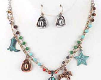 Southern Style Charm Necklace Set
