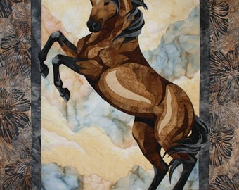 The Guardian Toni Whitney Horse Fusible Applique Quilt Pattern With Fabric Kit