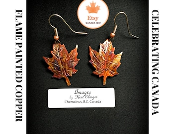 autumn leaf earrings, maple leaf earrings, maple leaf jewelry, Canada 150, Canada Day, leaf earrings, leaf jewelry, fall fashion