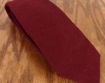 "vtg Stix Baer & Fuller euc Men's Burgandy 100% Wool Tie Necktie 57"" 3"""