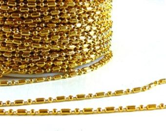 Link chain Golden Bamboo 1 meter 2.5 mm