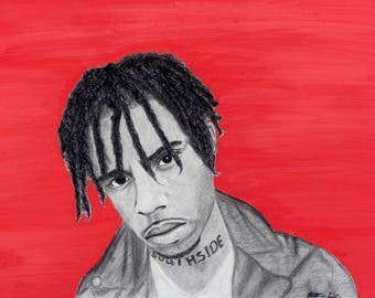 Vic Mensa Black Charcoal Print