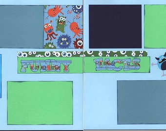 Funny Faces/Everyday LIfe/Any Occasion 12x12 Premade Scrapbook Pages
