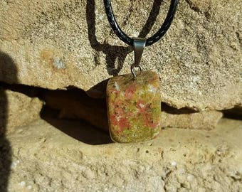 Natural Unakite necklace