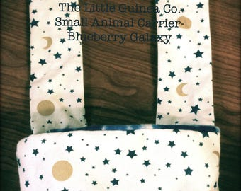 Small Animal Carrier- Blueberry Galaxy