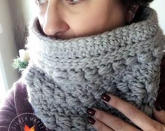 CROCHET COWL Pattern, Crochet Scarf Pattern, Crochet Chunky Cowl Pattern, Chunky Scarf Pattern, Infinity Scarf Pattern, CLOVER Cowl,