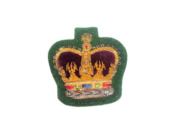 WO2 - Warrant Officer Class 2 Large Crown Badge - British Army - E26