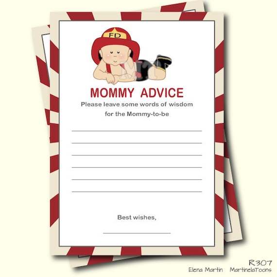 Delightful Firefighter Baby Shower Advice For Mom To Be Cards Boy