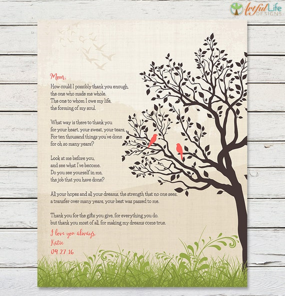 GIFT FOR MOM From Daughter Printable Mom Poem Mom Birthday