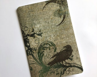 Gothic Raven Under Crescent Moon - Travelers Notebook Laminated Dashboard - CHOOSE B6 or POCKET size