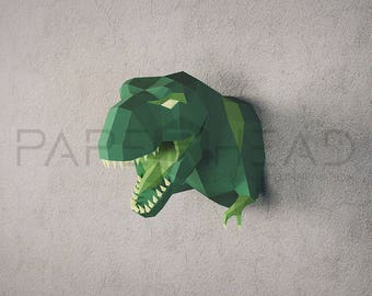 Make your own T-REX trophy head | DIY | Papercraft |  T-REX sculpture |