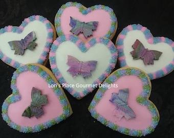 Valentine's Day Cookies - Heart Valentine Cookies - Heart Cookies -6 Cokies