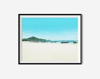 Beach Art, Ocean Photography, Beach Photography, Thailand Art, Landscape Prints, Thailand Photography, Beach, Ocean Print, Landscape,