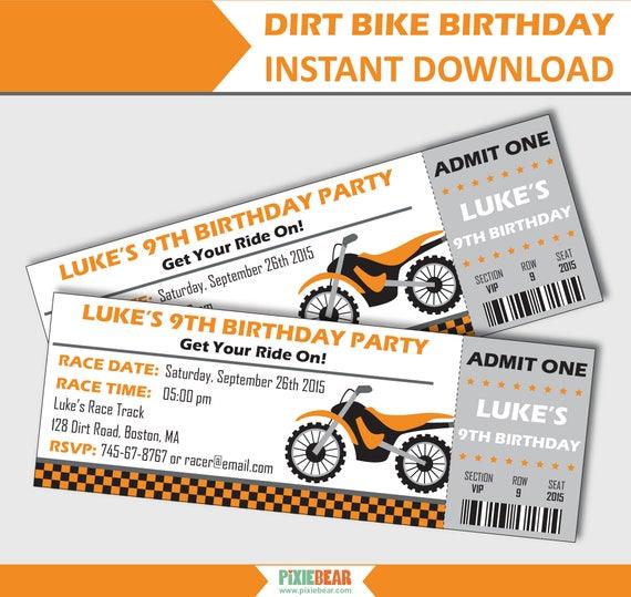 Motorcycle invitation dirt bike invitation motocross filmwisefo