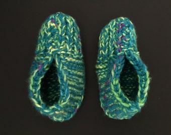 Knitting Grandma Slippers : Knitted slippers for toddlers stocking stuffer