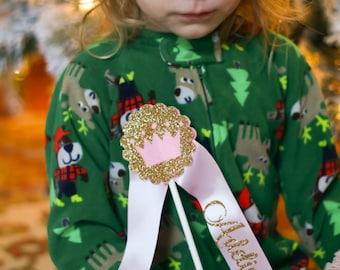 Personalized Christmas Girl Gift - Princess Wand - Pretend Play - Handmade Toy - Dress Up - Birthday Wand - Flower Girl Gift