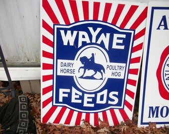 Wayne feeds Metal sign 23x18 inch