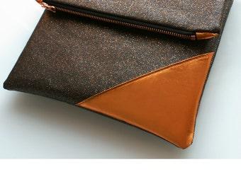 "Glamour clutch ""sparkle"", handbag, bag, evening bag, rosegold, ipad bag//clutch, handbag, bag, evening bag, purse, rose-gold"