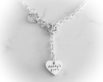 Daddy's Girl handcuff necklace DDLG/BDSM locked in love day necklace