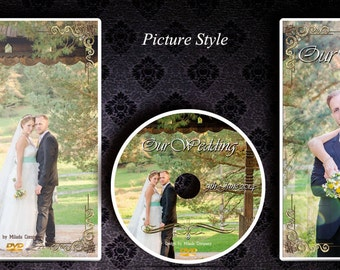 DVD/CD case. Custom printed wedding Dvd/Cd Case label (insert) and printed disc. Your own image & Text