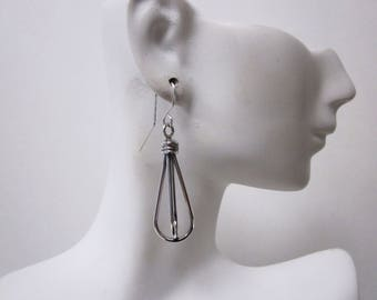 Bella's Sterling Cage Earrings