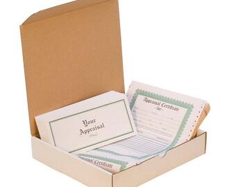 Appraisal Certificate Pack, 100 Piece Pack   APR-100.50