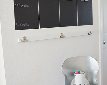 Set of 7 Days of the Week in White Vinyl for DIY Chalkboard Wall Calendar (MTWTFSS, Notes)--Great for Family Organization