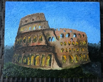 "8x10"" Colosseum Oil Painting"