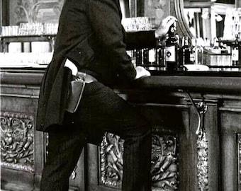 John Wayne on the set of The Shootest 1976.