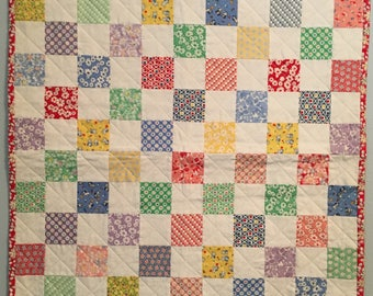 Doll Quilt - 1930's Reproduction Fabrics