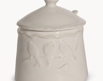 Rosebank Ceramic Sugar Pot with Birds - DP7059