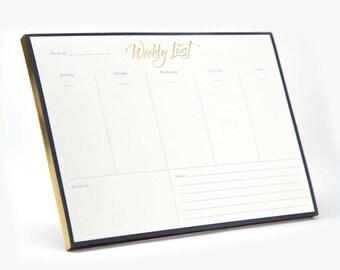U Brands Desktop, Weekly Planner, Calendar, Notepad, Office Desk Accessories