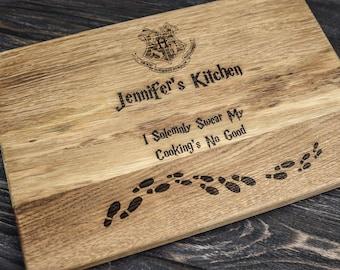 Harry Potter ALWAYS, Personalized Cutting Board ,monogram cutting board, Family Established sign,Custom cutting boards Wedding Gift