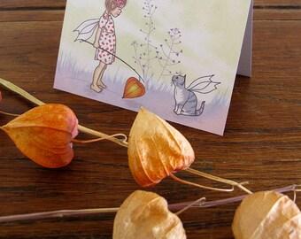 SALE The Fairy Cat card