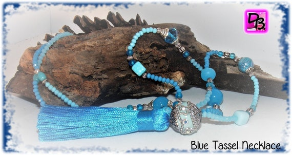 Sautoir pompon [Blue Tassel]