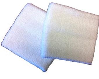 2.5 Inch Cotton Wristbands - White