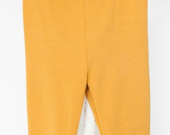 LOLLYPOP - plain 3/4-lenght legging - mustard yellow