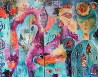 Awaken- Original Acrylic Painting 24x36 on canvas