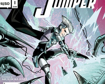 Single Issues: Zero Jumper #1 of 4 (Alterna Comics, 2018) sci-fi thriller action newsprint comic books; Patrick Mulholland