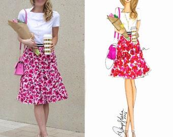 illustration,fashion illustration,custom illustration,fashion art,fashion,art,sketch,vanity art,custom portrait,drawing,girly,cute,pretty
