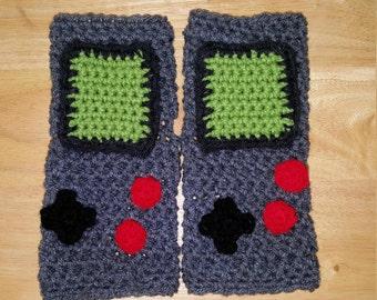 Gameboy inspired fingerless gloves