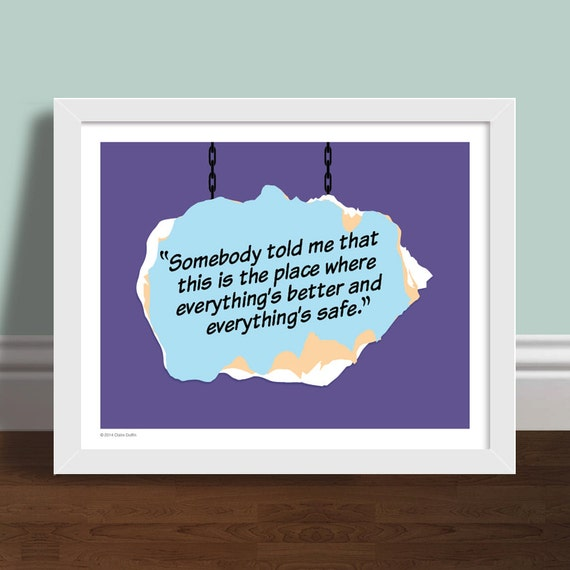 Somebody told me one tree hill quote art print poster like this item publicscrutiny Choice Image
