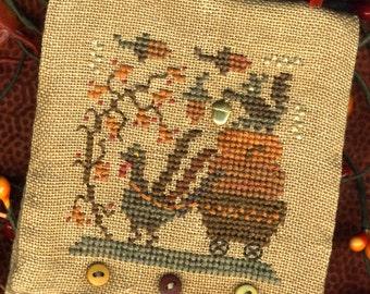 Turkey Tyme Needle Case ~ Cross Stitch Design and Embellishments