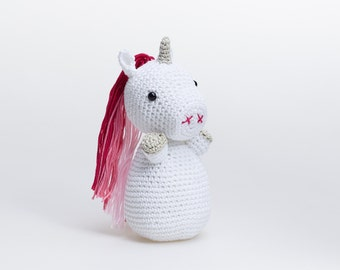Big Sister Gifts, Unicorn Amigurumi, Pink Unicorn Plush, Unicorn Stuffed Animal, Unicorn Stuffed Toy, Crochet Unicorn, Unicorn Soft Toy